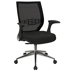 Office Star(TM) Pro-Line II ProGrid Fabric High-Back Chair, Icon Black/Black/Silver