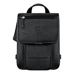 MacCase Leather Flight Jacket Bag For iPad (R) , Black