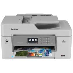 Brother(R) Business Smart Pro Wireless Color Inkjet All-In-One Printer, Scanner, Copier, Fax With 20 INKvestment Cartridges, MFC-J6535DW XL