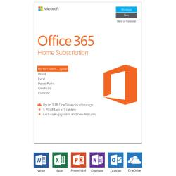 Microsoft(R) Office 365(TM) Home, English Version, 1-Year Subscription, Product Key