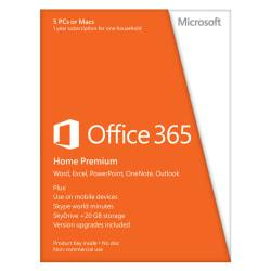 Microsoft(R) Office 365(TM) Home, Spanish Version, 1-Year Subscription, Product Key