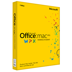 Microsoft(R) Office For Mac, Home And Student 2011, English Version, Product Key