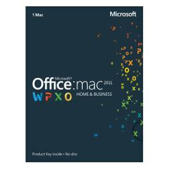 Microsoft(R) Office For Mac, Home And Business 2011, English Version, Product Key