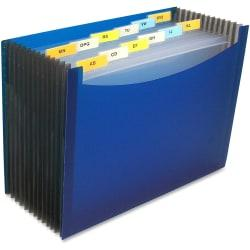 C-Line 13-Pocket Polypropylene Expanding File With 12 Dividers, 9in. Expansion, Letter Size, Blue