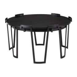 Zuo Modern Nesting Coffee Tables, Round, Black, Set Of 2 Tables