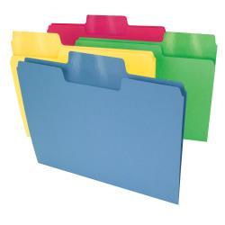 Smead(R) Erasable SuperTab(R) File Folders, Letter Size, 1/3 Cut, Assorted Colors, Pack Of 24