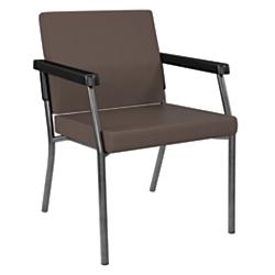 Office Star(R) Bariatric Big Tall Guest Chair, Java/Gunmetal Gray