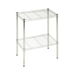Honey-Can-Do Urban Steel Adjustable Industrial Shelving Unit, 2-Tiers, Chrome