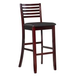 Linon Home Triena Collection Stool, Bar, Espresso/Dark Brown