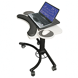 Balt Adjustable-Height Laptop Stand, Gray\/Black