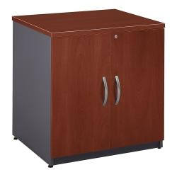 Bush Business Furniture Components Storage Cabinet, 30in.W, Hansen Cherry/Graphite Gray, Premium Installation