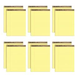 TOPS(TM) Second Nature(R) 100% Recycled Writing Pads, 8 1/2in. x 11 3/4in., Legal Ruled, 50 Sheets, Canary, Pack Of 12 Pads