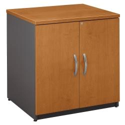 Bush Business Furniture Components Storage Cabinet, 30in.W, Natural Cherry/Graphite Gray, Premium Installation