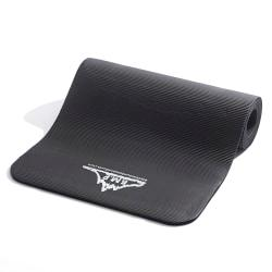 Black Mountain Products Ultra Thick Yoga And Exercise Mat, 73 1/2in. x 24 1/2in., Black
