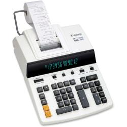 Canon CP1213DIII Desktop Printing Calculator - Dual Color Print - Dot Matrix - 4.8 lps - Ergonomic Design, Independent Memory, Item Count - 0.67in. - 12 Digits