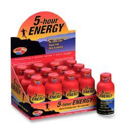 5 Hour EnergyTM Original Energy Drink 2 Oz Berry Flavor Pack Of 12