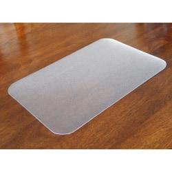 Desktex Antimicrobial Desk Mat - Rectangle - 24in. Width x 19in. Depth - Polyvinyl Chloride (PVC) - Clear