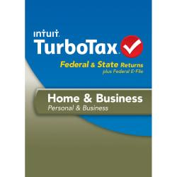 TurboTax Home Business Fed + Efile + State 2013 (Windows), Download Version