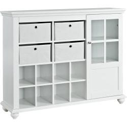 Ameriwood(TM) Home Reese Park Storage Cabinet, 3 Shelves, White