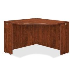 Lorell(R) Essentials Series Corner Desk, 42in.W, Cherry