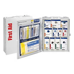 First Aid Only SmartCompliance First Aid Food Service Cabinet, 9 1/2in.H x 3 1/4in.W x 12in.D, White