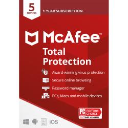 McAfee(R) Total Protection, For 5 Devices, For PC/Mac, Download Version