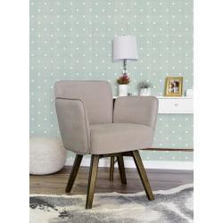 Elle Decor Esme Home Office Chair, Blush Pink/Dark Chinese Chestnut