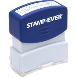 Stamp-Ever Pre-inked Blue Faxed Stamp - Message Stamp - FAXED - 0.56in. Impression Width x 1.69in. Impression Length - 50000 Impression(s) - Blue - 1 Each
