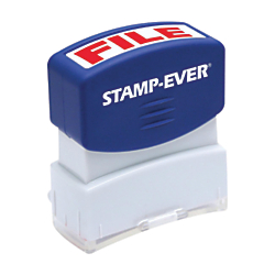 Stamp-Ever Pre-inked File Stamp - Message Stamp - FILE - 0.56in. Impression Width x 1.69in. Impression Length - 50000 Impression(s) - Red - 1 Each