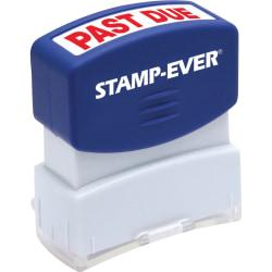 Stamp-Ever Pre-inked Past Due Stamp - Message Stamp - PAST DUE - 0.56in. Impression Width x 1.69in. Impression Length - 50000 Impression(s) - Red - 1 Each