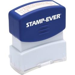 Stamp-Ever Pre-inked One-Clear Received Stamp - Message Stamp - RECEIVED - 1.69in. Impression Length - 50000 Impression(s) - Red - 1 Each