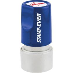 Stamp-Ever Pre-Inked Check Mark Icon Stamp - Design Stamp - CHECK MARK(ICON) - 0.75in. Impression Diameter - 50000 Impression(s) - Red - 1 Each