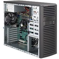 Supermicro SuperWorkstation 5037A-iL Barebone System Mid-tower - Intel C216 Chipset - Socket H2 LGA-1155 - 1 x Processor Support - Black