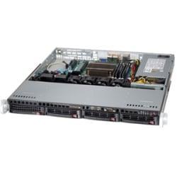 Supermicro SuperServer 5018D-MTLN4F Barebone System - 1U Rack-mountable - Intel C224 Chipset - Socket H3 LGA-1150 - 1 x Processor Support - Black