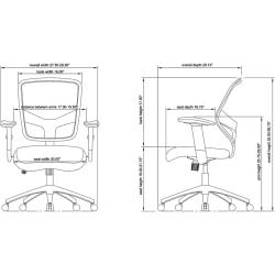 Lorell(R) Executive Mesh/Leather Mid-Back Chair, Black