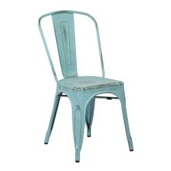 Office Star(TM) Bristow Armless Chairs, Antique Sky Blue, Set Of 4 Chairs