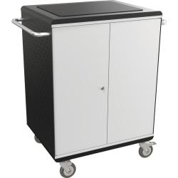 Balt La Cart Tablet Security And Charging Cart, 36 3/4in.H x 31 3/4in.W x 20 1/8in.D, Charcoal
