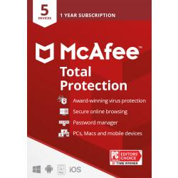 McAfee(R) Total Protection, For 5 Devices, For PC/Mac, eCard