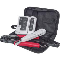 Intellinet Network Solutions 4-Piece Network Tool Kit Composed of LAN Tester, LSA Punch Down Tool, Crimping Tool and Cutter/Stripper Tool
