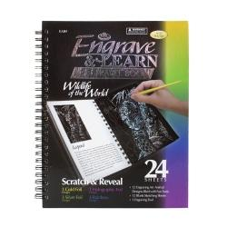 Royal Langnickel Engrave And Learn Travel Book, Wildlife Of The World, 7in. x 9in.
