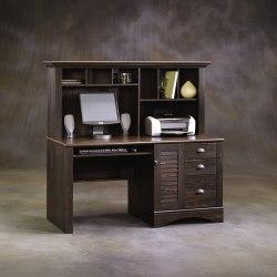 Sauder(R) Harbor View Collection Computer Desk With Hutch, 57 3/8in.H x 62 1/4in.W x 23 1/4in.D, Antiqued Paint