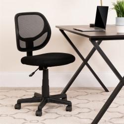 Flash Furniture Mesh Low-Back Swivel Chair, Black