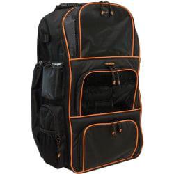 Mobile Edge Deluxe Carrying Case (Backpack) Baseball, Softball - Black, Orange