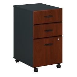 Bush Business Furniture Office Advantage 3 Drawer Mobile File Cabinet, Hansen Cherry/Galaxy, Standard Delivery