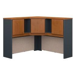 Bush Business Furniture Office Advantage Corner Hutch 48in.W, Natural Cherry/Slate, Standard Delivery