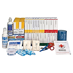 First Aid Only 446-Piece ANSI B+ Refill Kit, 8 3/4in.H x 9 1/8in.W x 13 1/4in.D, White/Blue