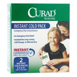 Curad Instant Cold Pack - 5in. Width x 6in. Length - 2 / Box