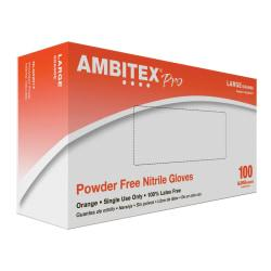 Ambitex(R) High-Visibility Nitrile Gloves, Small, Orange, Box Of 100