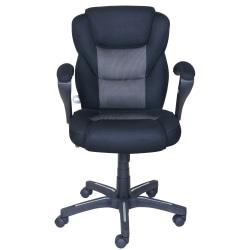 True Innovations Sport Mesh Mid-Back Chair, 40 1/4in.H x 24 3/4in.W x 26 3/4in.D, Gray/Black
