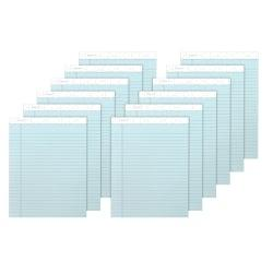 TOPS(TM) Prism+(TM) Color Writing Pads, 8 1/2in. x 11 3/4in., 100% Recycled, Legal Ruled, 25 Sheets, Blue, Pack Of 12 Pads